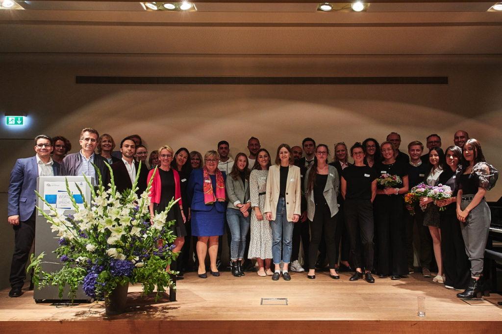 """Goethe-Universitäts-Projekt """"Start ins Deutsche"""" und Stiftung Junge Weltbürger machen am 17.9.2019 im Historischen Museum Frankfurt auf Bedeutung von Sprachförderung aufmerksam Fotograf: Lecher"""